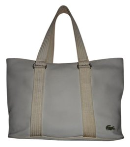 Lacoste Pvc Tote in White