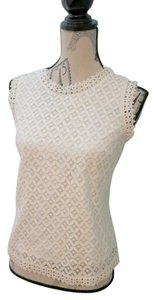 Merona Lace Cami Lace Top Off White