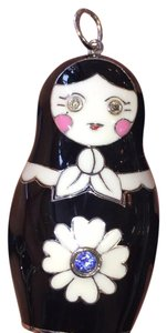 Russian Dolls by Svetlana Large Silver Enamel Nesting Doll