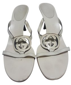 Gucci Leather off white Sandals