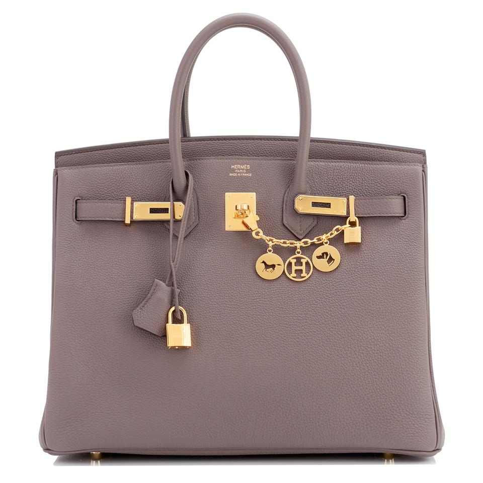 e7892fee7b Hermès Birkin Togo Tin Grey 35cm Gold Hardware Ghw A Stamp Etain ...