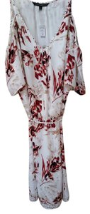 White House | Black Market short dress ECRU/ROSSO Floral on Tradesy