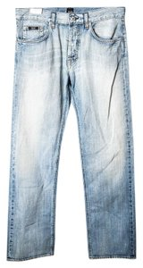 Hugo Boss Wash Denim Straight Leg Jeans-Light Wash