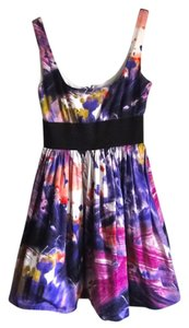 Necessary Objects short dress Purple Print Abstract Petite Wedding on Tradesy