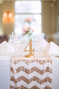 Glittery Table Numbers For Wedding Reception Decor Numbers 1-10
