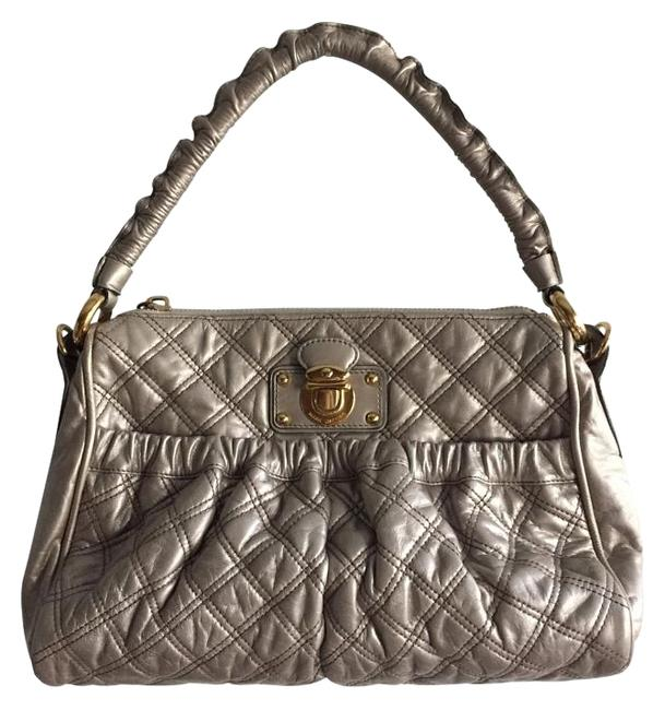 Item - Silver Leather Satchel