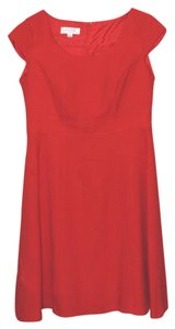 Kasper short dress Red Cap Sleeve A-ine on Tradesy