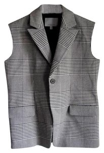 Classiques Entier Houndstooth Black And White Work Clothes Boxy Layering Vest