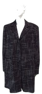 Louben Wool Houndstooth Coat
