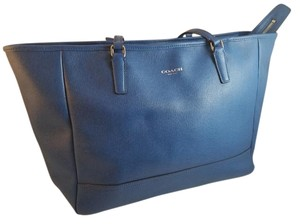 Coach Taxi Tote in Azure Blue