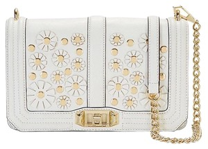 Rebecca Minkoff Clutch Evening Flowers Chain Leather Cross Body Bag