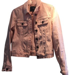 Sanctuary Clothing Pink Womens Jean Jacket