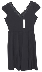 LC Lauren Conrad Cap Sleeve V-neck Dress