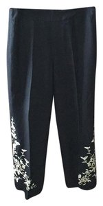 Harold Powell Straight Pants Black with ivory