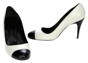 Chanel Ivory and Black Pumps