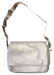 Michael Kors Messenger Professional Jet Set Leather Gray/Silver Messenger Bag
