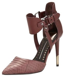 Dolce Vita Snakeskin Fall16 Bordeaux Pumps