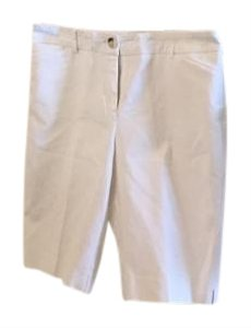 Chico's Pockets Bermuda Shorts White