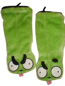Hot Topic INVADER ZIM/GIR DOG SUIT Plush Gloves/Hand Warmers-RARE