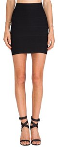 Torn by Ronny Kobo Bandage Bodycon Night Out Mini Skirt Black