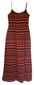 Navy/Red stripe Maxi Dress by Gap Preppy Nautical