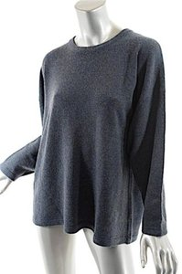 Eskandar Heather Dark Blue Green 100 Cashmere Jewel Neck Sweater Cardigan