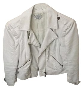 bebe White Leather Jacket