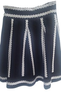 Maje Skirt Black w/ white