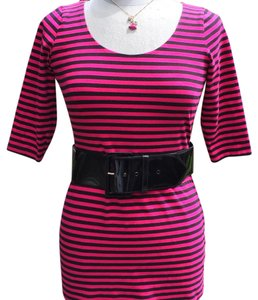 Betsey Johnson short dress Fucshia & Black on Tradesy