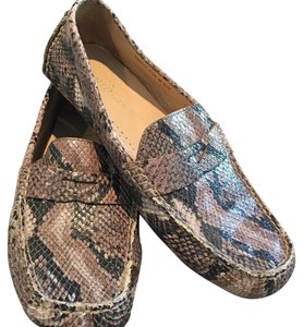 Cole Haan Driving Shoe Loafer Snake-Print Flats