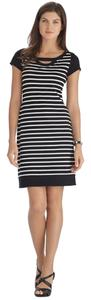 White House | Black Market short dress White and Black Stripped on Tradesy