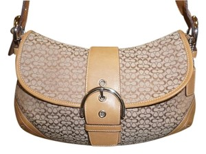 Coach Large Flap Classic Classic Signature Signature Hobo Bag