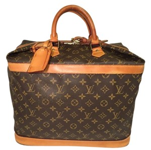 Louis Vuitton Name Tag Monogram Brown Travel Bag