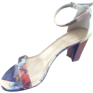 Stuart Weitzman Purple/moss/pale yellow Sandals