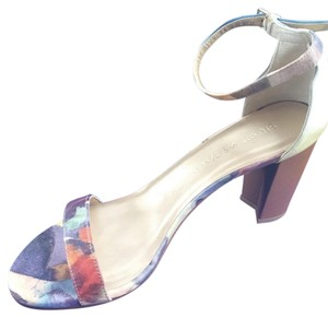 Stuart Weitzman Purple, moss, pale yellow Sandals
