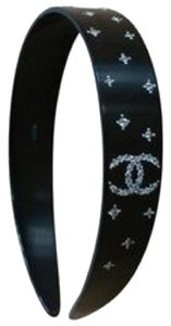 Chanel CHANEL Plastic Crystal CC Headband Black