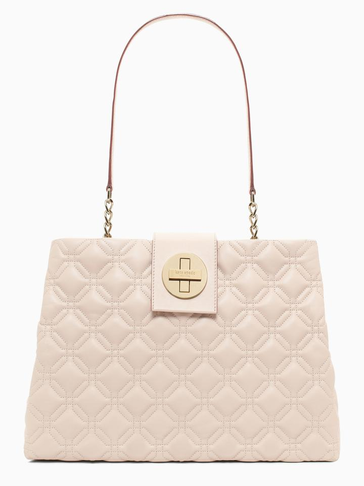 410f4b880253 Kate Spade Big Gold Turnlock Astor Court Elena Black Quilted Leather ...