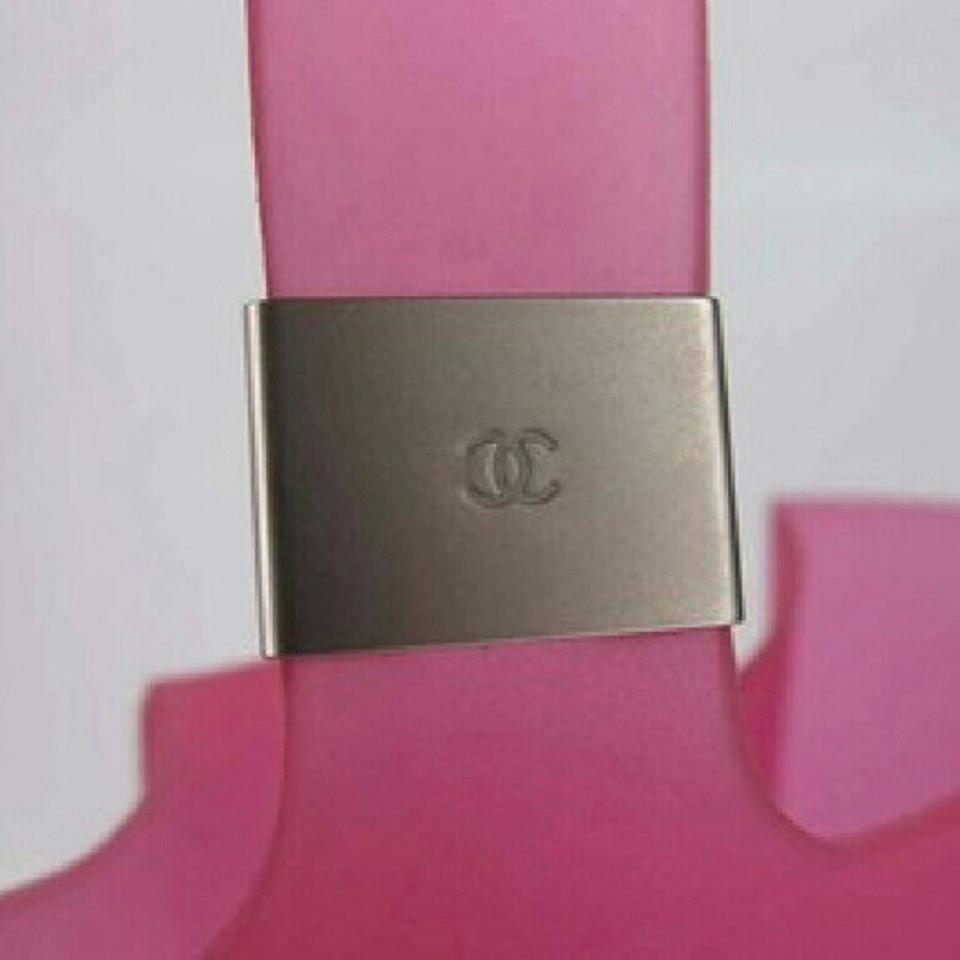 43ab8b12b5ee Chanel Small Jelly Pink Rubber Tote - Tradesy