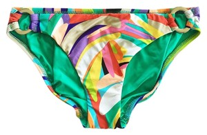Trina Turk TT4DJ96 Hipster Bikini Bottom with Silver Buckle Detail