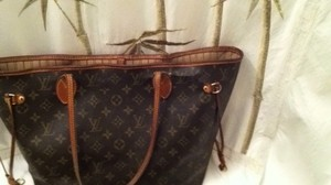 Louis Vuitton Mm Neverfull Tote in Brown/tan