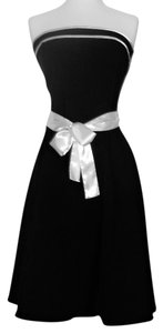 Roby Rox short dress Black with white trim on Tradesy