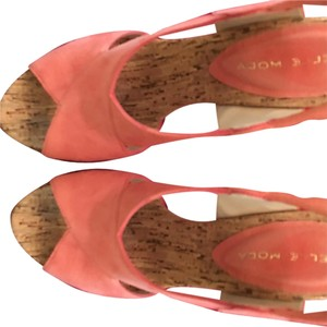 Pelle Moda Pink Espadrille Coral Wedges