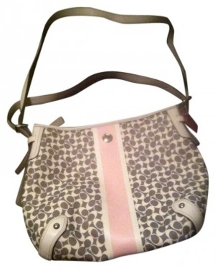 Preload https://item4.tradesy.com/images/coach-pink-grey-and-white-cross-body-bag-186713-0-0.jpg?width=440&height=440