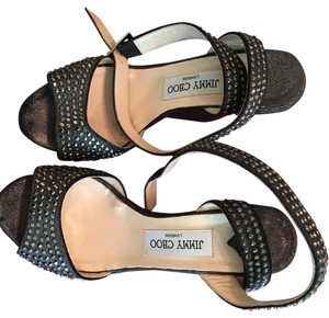 Jimmy Choo Black- pewter Wedges