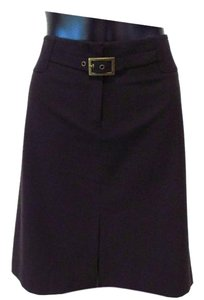 The Limited Casual Basic Stretch Skirt Dark Brown