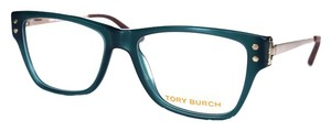 Tory Burch Women's Green and Gold Eyeglasses with Case