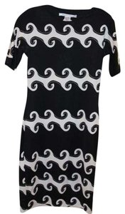 Diane von Furstenberg short dress Black Dvf Silk Print Graphic on Tradesy