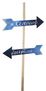 Wedding Ceremony And Reception Arrow Signs