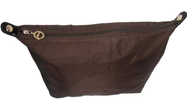 Item - Le Pliage Large Cosmetic/Travel Brown Nylon Clutch