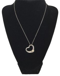 Tiffany & Co. Tiffany and Co Sterling Silver Open Heart Pendant Necklace